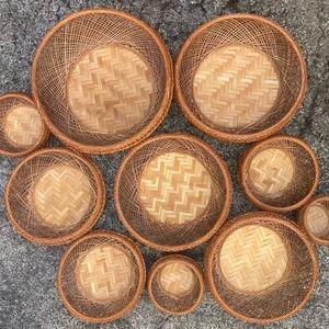 Vintage Set of 10 Nesting Baskets Wall Art?